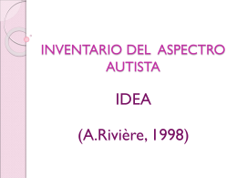 INVENTARIO DEL ASPECTRO AUTISTA