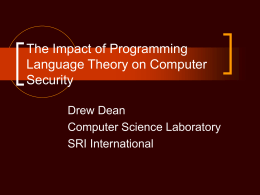 The Impact of Programming Language Theory on …