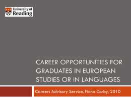 Career opportunities for European studies students