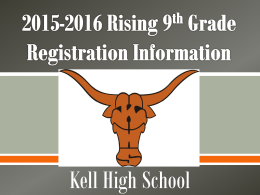 Kell High School Course and Registration Information