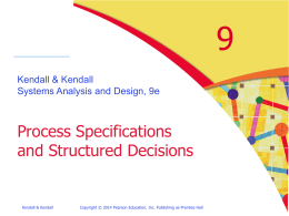Chapter 9 Describing Process Specifications and …