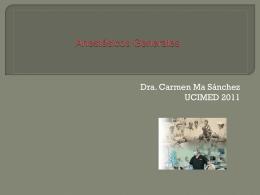 Anestesicos generales - Blog 6 Semestre UCIMED II-2011
