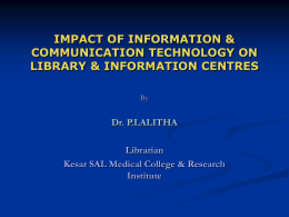 IMPACT OF INFORMATION & COMMUNICATION …