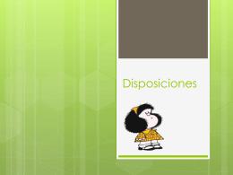 Disposiciones