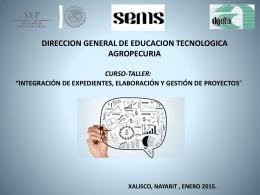 DIRECCION GENERAL DE EDUCACION TECNOLOGICA …