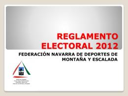 REGLAMENTO ELECTORAL 2012