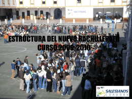 ESTRUCTURA DEL NUEVO BACHILLERATO CURSO 2009 …