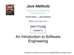 Java Methods 2nd AP edition