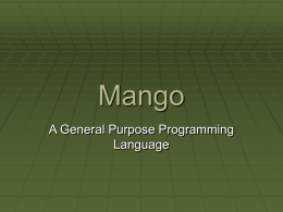 Mango - Welcome [Savannah] - non-GNU