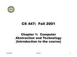 CS 447 - University of South Carolina