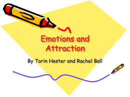 Emotions and Attraction