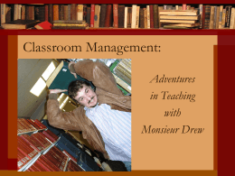 Classroom Management: - University of Minnesota Duluth
