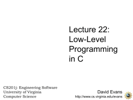 Low-Level Programming in C