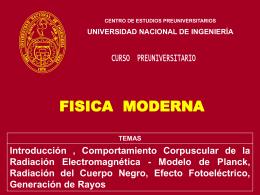 FISICA MODERNA - Ing. Jorge Cosco Grimaney | Temas de …