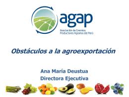 ASOCIACION DE GREMIOS PRODUCTORES AGRARIOS …