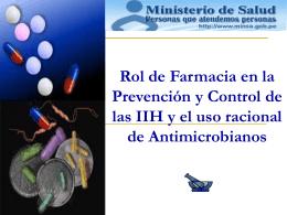 El uso racional de Antimicrobianos y la resistencia bacteriana