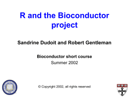 R and the Bioconductor project
