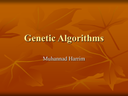 Genetic Algorithms - Department of Computer Science