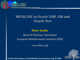 MEDLINE in Oracle XML