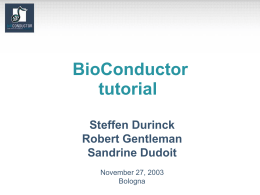 BioConductor tutorial