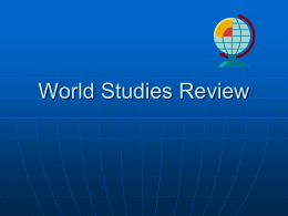 World Studies Review