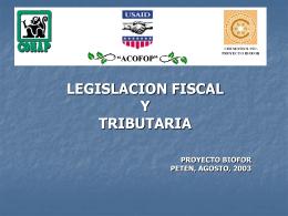 LEGISTLACION TRIBUTARIA Y FISCAL