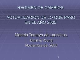 PRINCIPALES MODIFICACIONES AL REGIMEN CAMBIARIO …