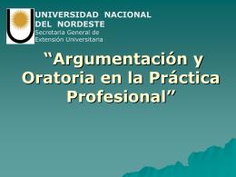 Universidad Nacional del Nordeste Facultad de Ciencias