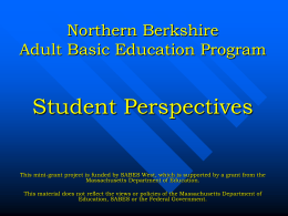Northern Berkshire Adult Basic Education Program