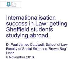 Internationalisation success in Law: getting Sheffield