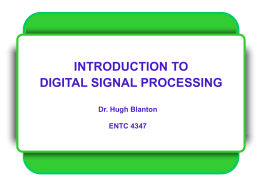 DISP-2003: Introduction to Digital Signal Processing