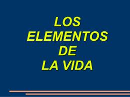LOS ELEMENTOS DE LA VIDA