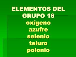 ELEMENTOS DEL GRUPO 16 - Bienvenidos al Consejo de