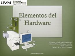 Elementos del Hardware - Sistemas Operativos UVM