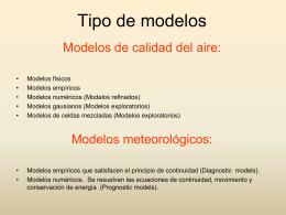 Elementos de un modelo de calidad del aire