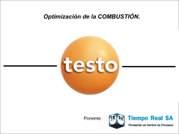 Optimizacion de la Combustion - Tiempo Real, S.A. Cursos