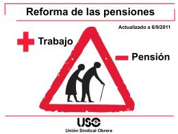 Reforma de las pensiones - LSB-USO