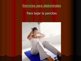 Ejercicios para abdominales Para bajar la pancitas