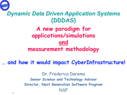 Dynamic Data Driven Application Systems - e