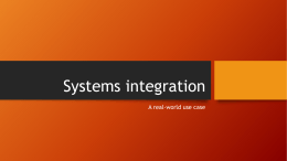 Systems integration - PUG Challenge Americas