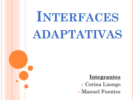 Interfaces adaptativas