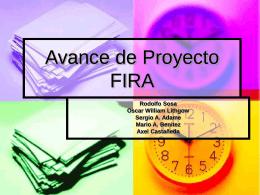 Avance de Proyecto FIRA
