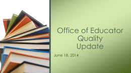 June 18, 2014 - Mississippi Department of Education