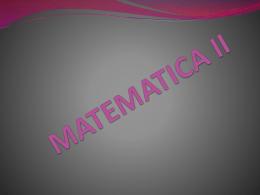 MATEMATICA II