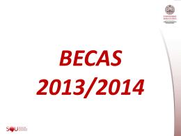 BECAS 2013/2014