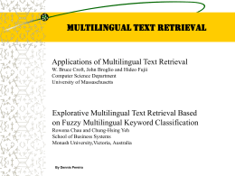Multilingual Text Retrieval