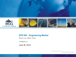 SITE BC - Engineering Market