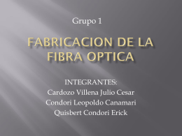 FABRICACION DE LA FIBRA OPTICA