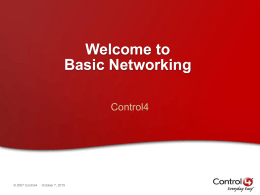 Basic Networking - Genesis Technologies
