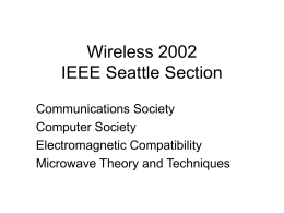 Wireless 2002 IEEE Seattle Section